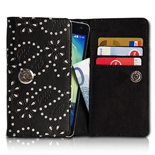 Strass Book Style Flip Handy Tasche Case Schutz Hülle Foto Schale Motiv Etui für Huawei Ascend G7 - Flip SU2 Design6 Design 8