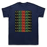Inspired Apparel Inspiriert durch Lil Pump Gucci Gang Inoffiziell Herren T-Shirt, Ultramarinblau, 3XL