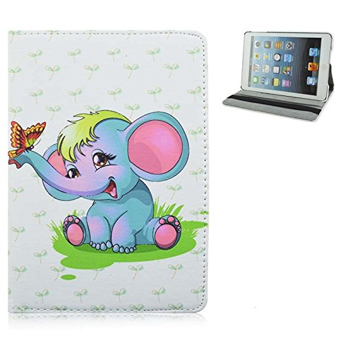 Samsung Galaxy Tab 4 8.0 (8 pollici) Cute bambini Disney Frozen Principessa Supporto a portafoglio Flip Cover per Samsung Galaxy Tab 4 8.0 SM-T330 Tablet PC serie) Dumbo The Elephant