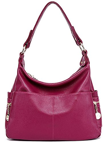 Xinmaoyuan Borse donna Middle-Aged Madre Borsa borsetta pacchetto Large-Capacity tracolla messenger bag,rosso Viola