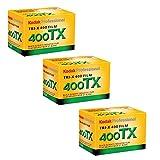 Kodak Tri-X 400TX Professionelle Schwarz-Weiß-Film, ISO 400, 35 mm, 24 Belichtungen, 3 Stück