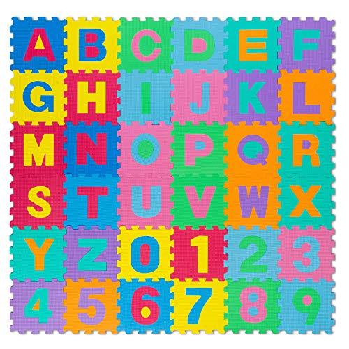 all kids United Kinder Puzzlematte Kinderteppich Spiel-Teppich Spielmatte Eva Schaumstoff-Matte 86-TLG; 186x186cm - Natürlichen Läufer Teppich