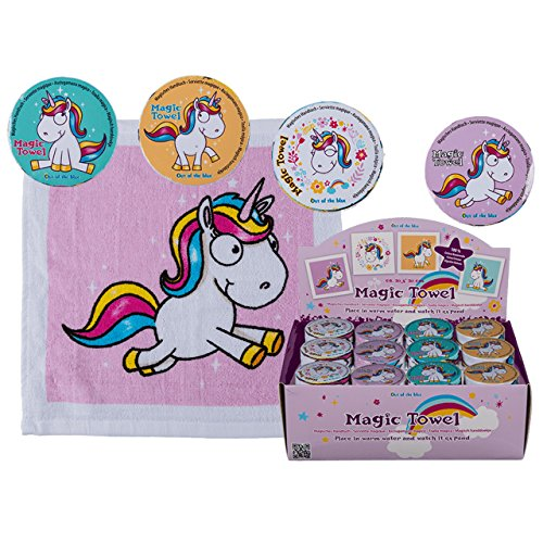 Preisvergleich Produktbild 4x Magisches Handtuch Einhorn 30cm Pferd Tier Waschlappen Kinder Mitgebsel