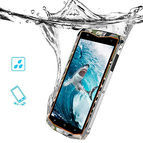 V Mobile V66 Moviles Baratos 5,5' 3GB RAM 32GB ROM,6500mAh Bateria,Impermeable Rugged Movil Resistente Agua y...