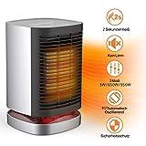 AILUKI Mini Heizlüfter PTC Keramik 2 Sekunden Heiß Heißlüfter 3 Modi 950W / 650W / 5W Luft Heizgerät Elektrische Tragbare Automatische Heizung mit 90° Oszillierend Überhitz Schutz Umkipp für Haus/Büro