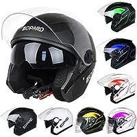 Leopard LEO-608 DOUBLE SUN VISOR Open Face Helmet SV Motorbike Motorcycle  Helmet fc2b08a302d5d