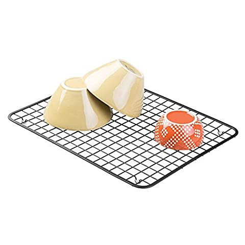 Tapis-grille de protection d'évier, mDesign - Grand, Noir mat