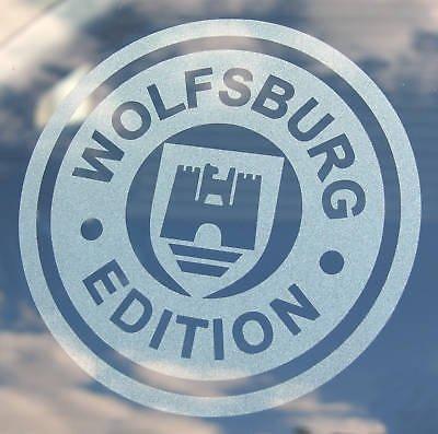 VW 'WOLFSBURG AUSGABE' 2 aufgeraut fenster sticker aufkleber