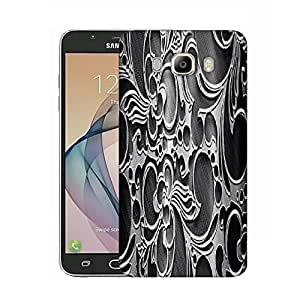 Snoogg Abstract Grey Design Designer Protective Phone Back Case Cover for Samsung Galaxy On8