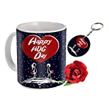 Sky Trends Valentine Combo Gift For Husband Printed Coffee Mug Keychain Artificial Rose Gift For Kiss Day Propose day Promise Day Hug Day Rose Day Gifts title=
