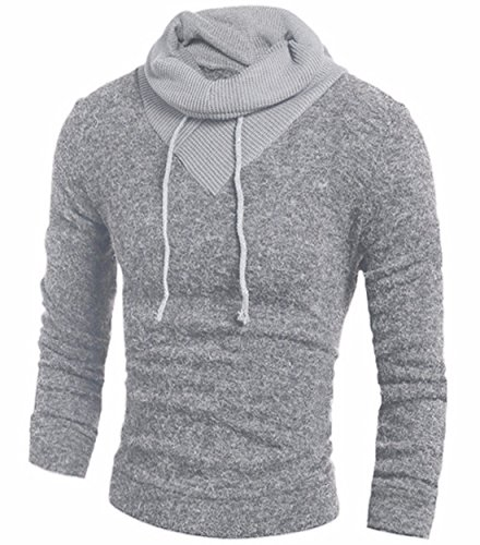 Homme Manches Longues Étroit Sweatshirts Sweatshirt Décontracté Light Grey