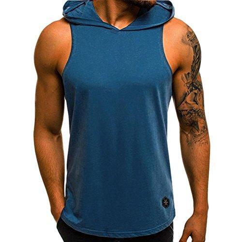 QinMM Camiseta Capucha Tirantes Deportes