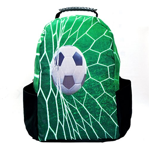 US1984 15-inch Casual Laptop Backpack Bag Printed (3D Football)