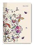Collegetimer Flower Art 2014/2015 - Schülerkalender A5 - Day By Day - 352 Seiten