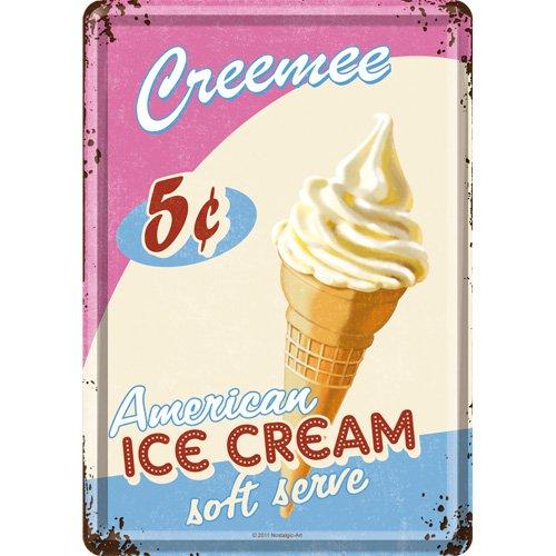 Nostalgic-Art 10138 USA - Ice Cream, Blechpostkarte 10x14 cm
