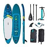 Aztron Titan Tabla de Paddle Surf Hinchable Premium 11' 11'x32'x6' con tecnología de Doble cámara Incluye Remo, Bomba de Doble acción, Leash y Mochila