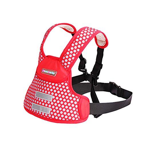 LINWU Kinder Motorrad Elektro-Auto-Kindersitz Gurtbandes verstellbare Riemen Kinder , red