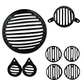 #1: Autofy Metal Grill for Royal Enfield Bullet Classic 350 & 500 (Black, Set of 8)
