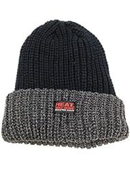 Veste Noir/Gris Hiver Chaud Bonnet Heat Machine thermique brossé
