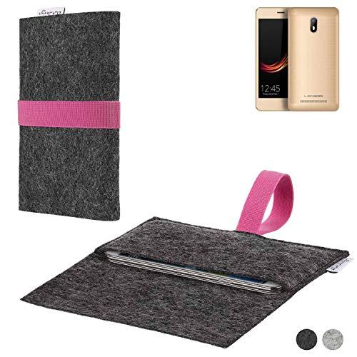 flat.design Handy Hülle Aveiro für Leagoo Z6 passgenaue Filz Tasche Case Sleeve Made in Germany
