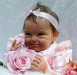 """55cm 22 """"Real Life Baby Dolls Weiches Silikon Vinyl Reborn Echtes Realistisches Neugeborenes Baby Für Mädchen Spielzeug Geschenk"""