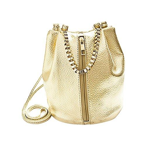 Borse benna - SODIAL(R)Estate catena borse messaggero delle donne di moda della benna delle donne Crossbody Borse femminile borsa borse a tracolla signore Oro Oro