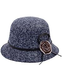 FRGVSXZCX Moda Cappelli Cappello Autunno e Inverno Donna Cappello di Lana  Donna Madre Cappello Colore Misto 4ceb50f4038c