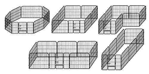 """Laufgitter """"Lucky"""", Tierauslauf, Welpengehege, 8 Elemente, Elementgröße: (B) 80 x (H) 100 cm - 4"""