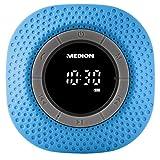 MEDION E66554 Duschradio mit Bluetooth, 20 Watt, PLL UKW, IPX7, eingebauter...
