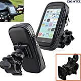#8: Eightiz Waterproof Bike/Motorcycle Mobile Holder Zip Pouch Style Mount Stand for Smartphone/Cell Phone/GPS Devices with 360 Degree Rotation(Upto 5.5inch Device)