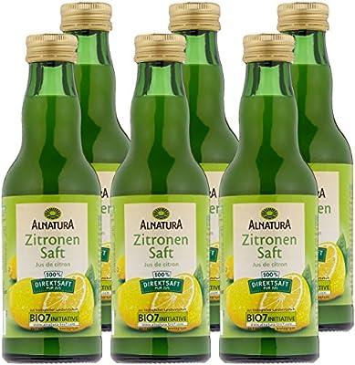 Alnatura Bio Zitronensaft, 6er Pack (6 x 200 ml)