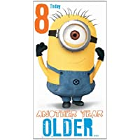 Despicable Me 2 Age 8 Birthday Card