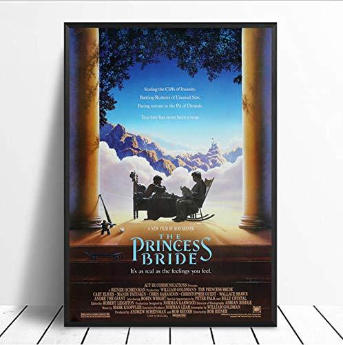 in Braut Vintage Classic Movie Poster Wohnkultur Wanddekor Kunst Leinwand Malerei Leinwanddruck 40X60 cm Ohne Rahmen ()