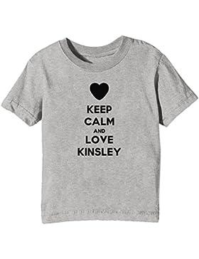Keep Calm And Love Kinsley Bambini Unisex Ragazzi Ragazze T-Shirt Maglietta Grigio Maniche Corte Tutti Dimensioni...