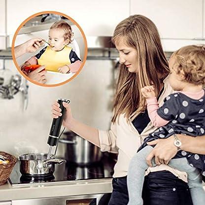 SUNAVO-Leistungsstarker-2-in-1-Stabmixer-Set400-Watt-Prierstab-Mixer-regelbare-Geschwindigkeitsstufen-mit-Zubehr-fr-Smoothies-Babynahrung-Joghurt-Saucen-Suppen-SmoothieSchwarz-Muttertagsgeschenk