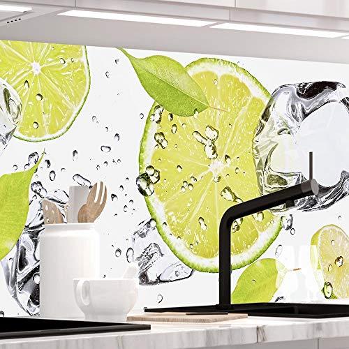 StickerProfis Küchenrückwand selbstklebend Pro LIMETTEN UND EIS 60 x 220cm DIY - Do It Yourself PVC Spritzschutz