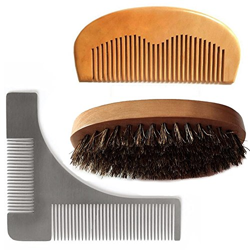 magik-beard-mustache-hair-faceneck-care-styling-grooming-trimming-shaping-aid-tool-comb-brush-set-br