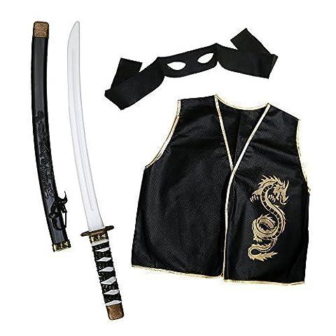 Enfants Shogun Guerrier Ninja Ensemble Avec Katana Épée