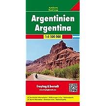 Argentinien, Autokarte 1:1.500.000, freytag & berndt Auto + Freizeitkarten