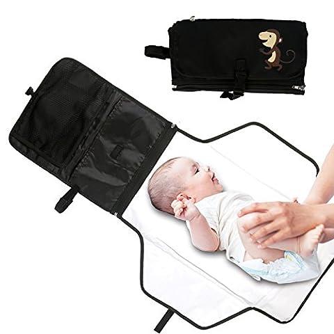 Table à langer bébé portable Coussin du géométriques du bébé pliable Kit à langer de voyage avec poches de rangement pour extérieur de maison