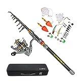 Lixada Canna da Pesca 3M + Mulinello LE5000 + Pesca Borsa + Altri Pesca Accessori