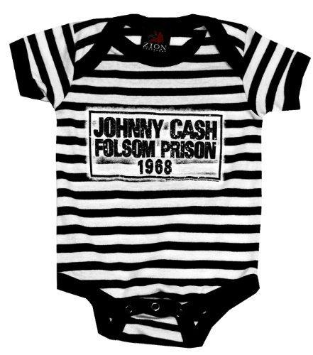 Johnny Cash Folsom Prison Säugling Baby Romper T-Shirt