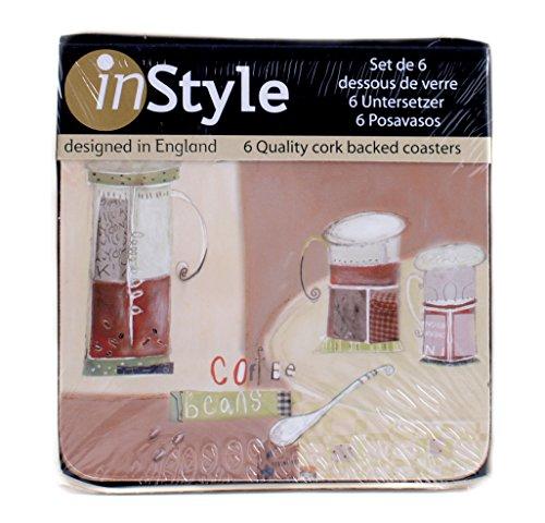 creative-tops-reverso-de-corcho-instyle-posavasos-de-granos-de-cafe-6-unidades