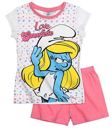 Die Schlümpfe Mädchen Shorty-Pyjama - pink - 104