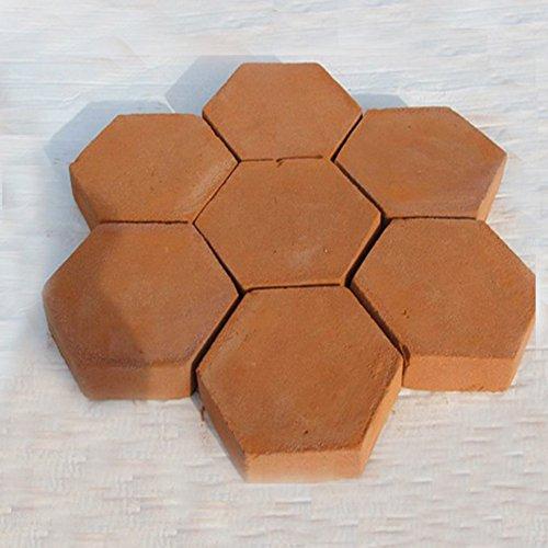 UxradG Path Maker Backform, Sechseck Pflastersteine Beton Stepping Stone Schimmel Formen Steine Platten Garten Terrasse Auffahrt Pathmate Pflaster Form -