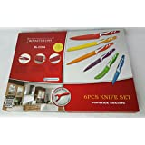 Royalty Line - Set de 6 cuchillos de cocina y 1 pelador