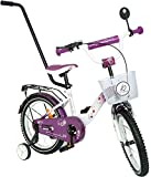 Kinderfahrrad Princess Bike 14 Zoll lila/weiß mit Rücktrittbremse