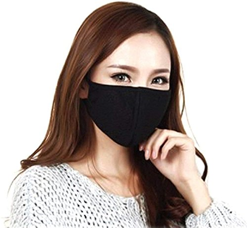 Unyks Face mask for dust pollution for men women kids bike bikers air anti pollution dustproof mask washable reusable, Black Pack of 4