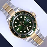 Famous Luxury Brand Copy Watch Designer Inspired Like Original Design For Men Timepiece Stainless Steel Royal (Green)