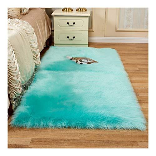 La alfombra de Cuero Artificial, Piel Suave y esponjosa Antideslizantes for Dormitorio,...